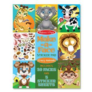 חוברת מדבקות פרצופים חיות
