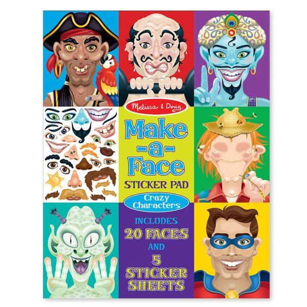 חוברת מדבקות פרצופים מצחיקים