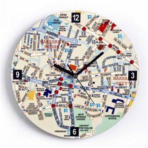 שעון מפת העיר ירושלים