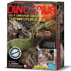חפירת שלד דינוזאור
