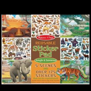 חוברת מדבקות - ג'ונגל