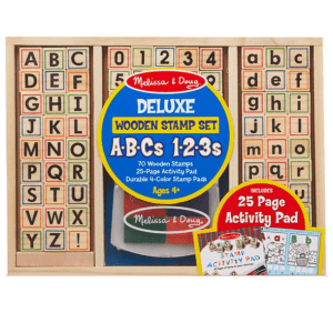 מארז חותמות - מספרים ואותיות באנגלית