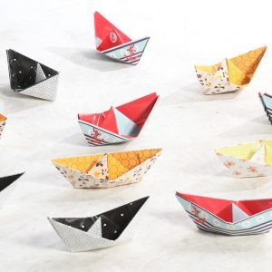 פלייסמנטים סירות נייר