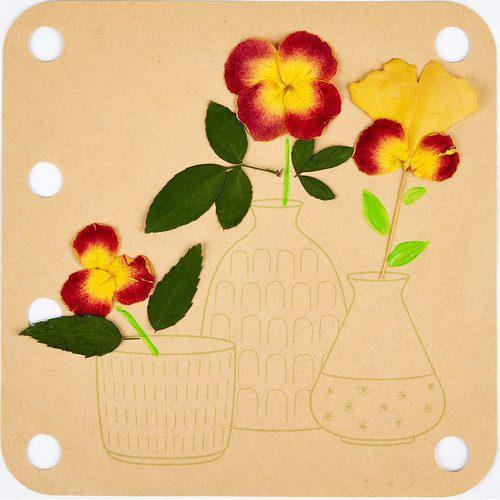 יצירה עם פרחים