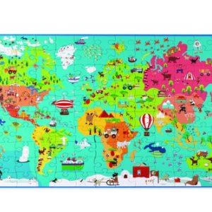 פאזל מפת עולם