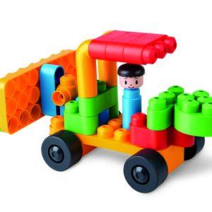 פולי אם לבני בנייה גלגלים