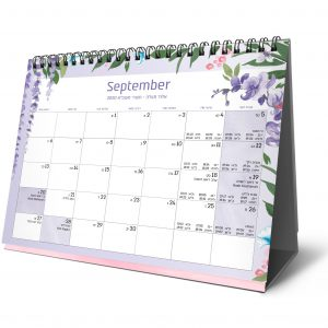 לוח שנה פרחוני