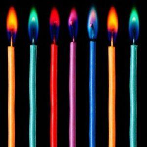 נרות יומולדת צבעוניים