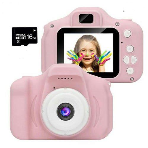 מצלמה דיגיטלית לילדים ורודה