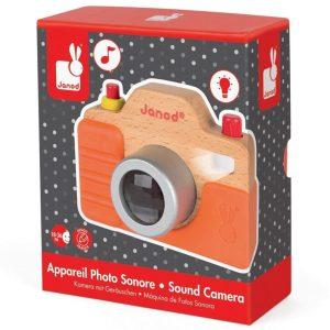צעצוע עץ מצלמה