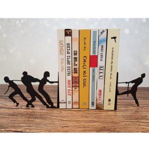 זוג תומכי ספרים ממתכת