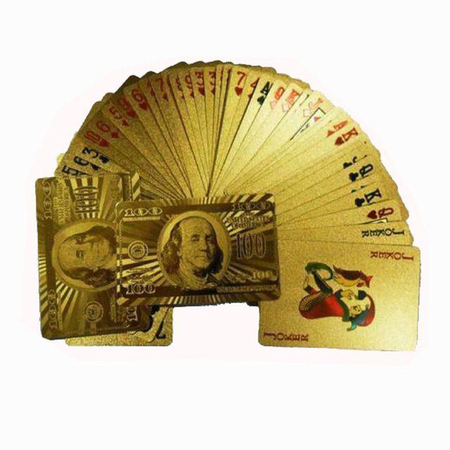 קלפים פוקר זהב דולר